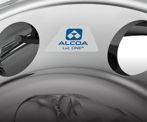 Close-up of Alcoa LvL ONE sticker