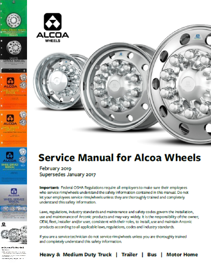 Service Manual for Alcoa Wheels - January 2017
